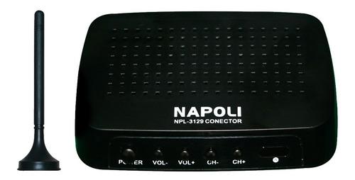 conversor digital para tv e dvd automotivo napoli com antena