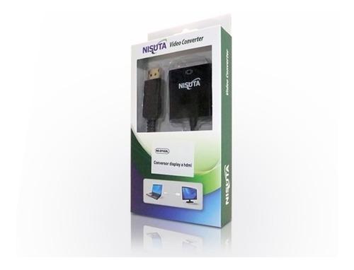conversor displayport a hdmi nisuta disponible blanco