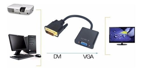 conversor dvi-d 24+1 a vga pc  a monitor + audio auxiliar