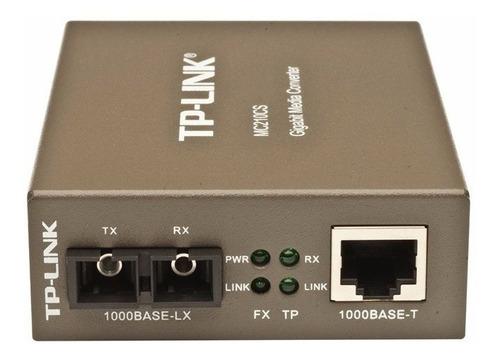 conversor fibra optica tp-link mc210cs utp single mode giga