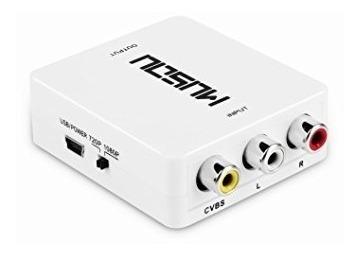 conversor hdmi a rca adaptador tv tubo play convertidor 1080