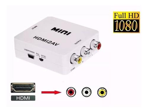 conversor hdmi a rca adaptador tv tubo play convertidor 1080 local