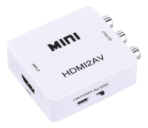 conversor hdmi a rca av cvbs audio vídeo convertidor