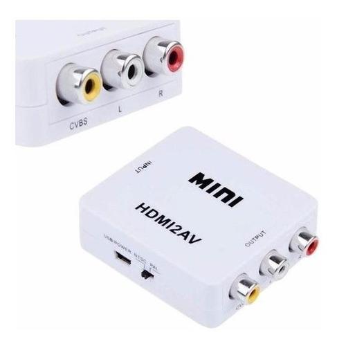 conversor hdmi a rca av p/ chromecast ps3 xbox tv tubo 1080p