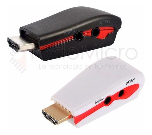 conversor hdmi a vga video audio proyector ps3 1080 activo