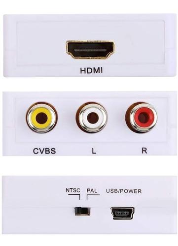 conversor hdmi a video rca ps3 ps4 xbox bluray tv tubo 1080p