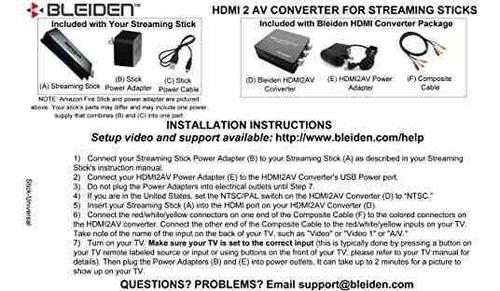 conversor hdmi para fire streaming stick, google chromecast,
