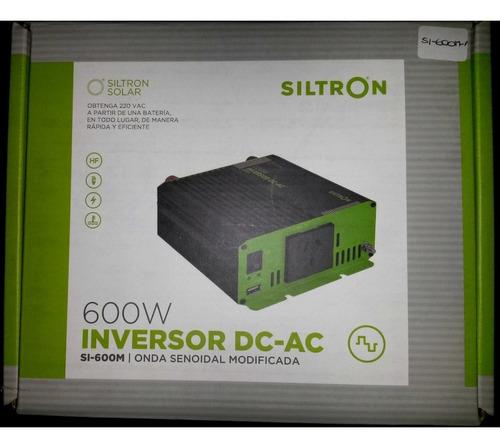 conversor inversor 12v a 220v 600w con usb siltron