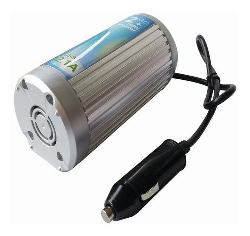 conversor inversor 12v portatil 200w + usb auto lancha moto