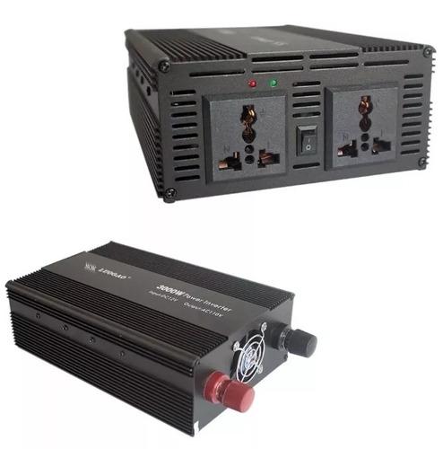 conversor inversor de tensão 3000w 12v p/ 110v transformador