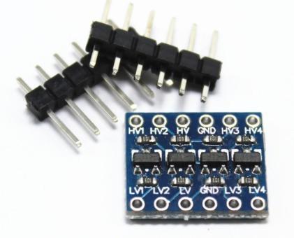 conversor nível lógico bidirecional i2c 5v - 3,3v arduino