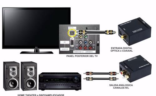 conversor optico coaxial digital  x rca + cabo optico