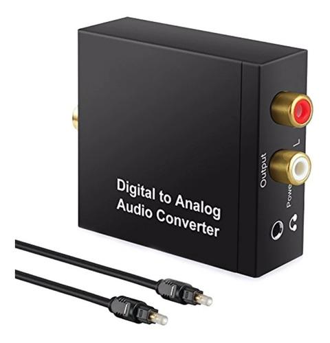 conversor óptico digital coaxial toslink para rca p2 + cabo