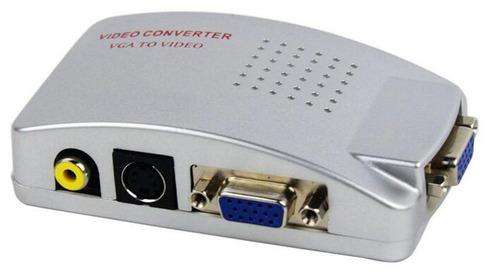 conversor pc tv de vga para av c saídas vga rca e s-vídeo