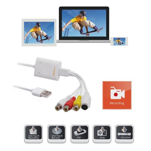conversor placa captura usb audio video ps3 xbox mac macbook