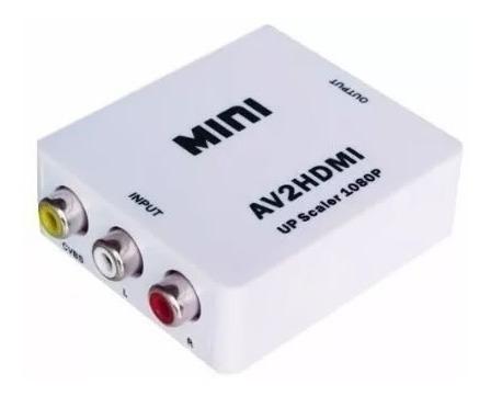 conversor rca a hdmi adaptador 1080p camara consola play led