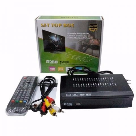 conversor set top box receptor tv digital gravador