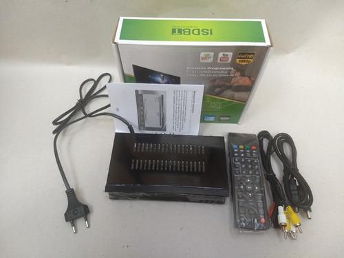 conversor set top box receptor tv digital gravador full hd