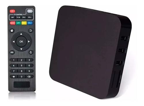 conversor smart tv 4k android box quad core tele