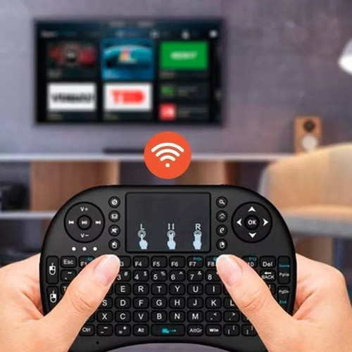 conversor smart tv android tv box mini 4k 2018 + teclado