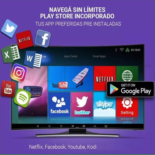 conversor smart tv android tv box quad core 4k 8gb 2019 ofer