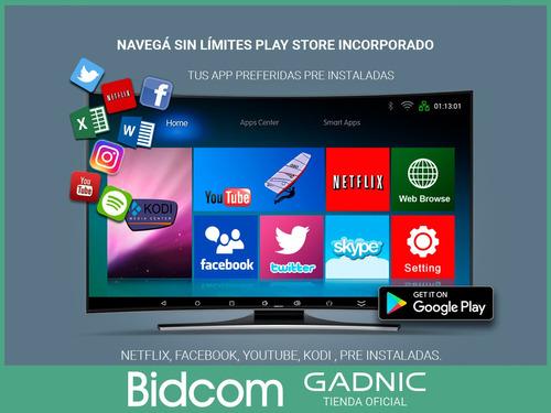conversor smart tv android tv box quad core 4k hdmi usb