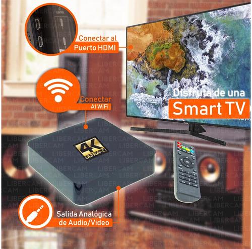 conversor smart tv android tv box quad core 4k mod 2019 ofer