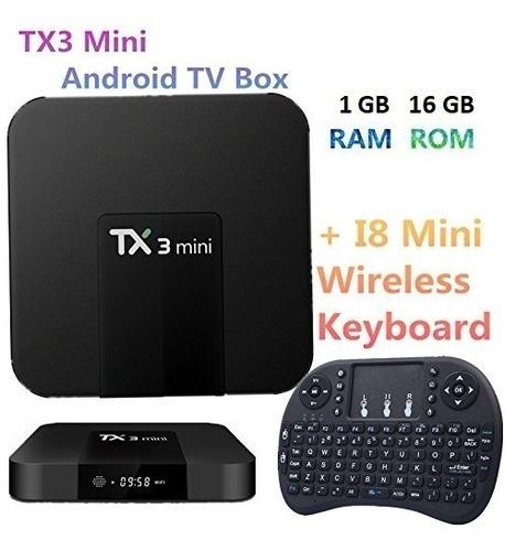conversor smart tv android tv box quad core 4k + teclado