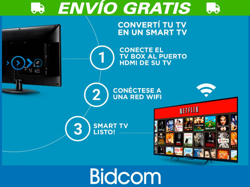 conversor smart tv android tv box quadcore 4k juegos peliculas
