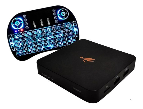 conversor smart tv android tv box + teclado mini ct piknik