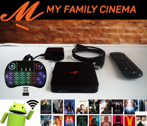 conversor smart tv android tv box + teclado mini usb piknik