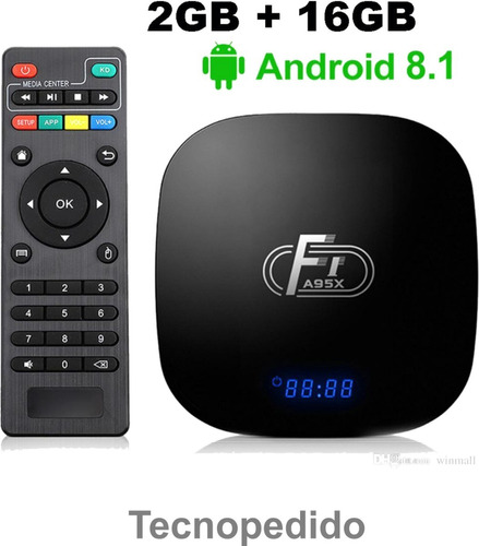 conversor smart tv box a95x f1 android 8.1 2gb ram 16gb rom