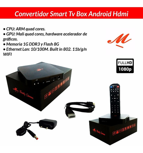 conversor smart tv box android hdmi pelis my family cinema