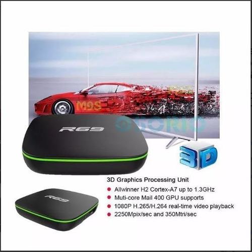 conversor smart tv box android r69 quad core 1giga & 8giga