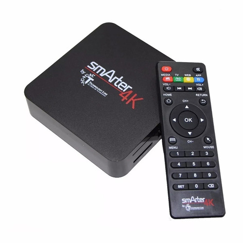 conversor smart tvbox android 4k hdmi wifi + control + cable