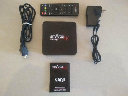 conversor tv a smart box andriod kanji 4k + cable p/ tv tubo