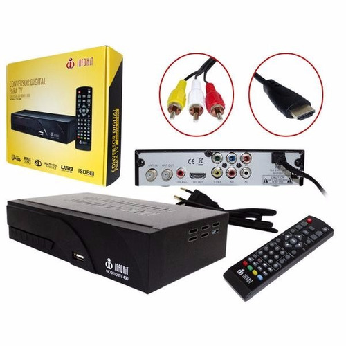 conversor tv analogica p digital gravador infokit itv500 4g