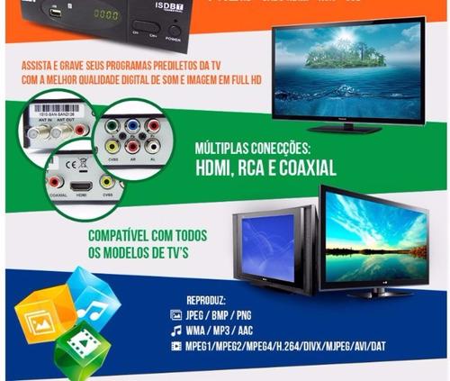 conversor tv digital função gravador full hd hdmi usb rca