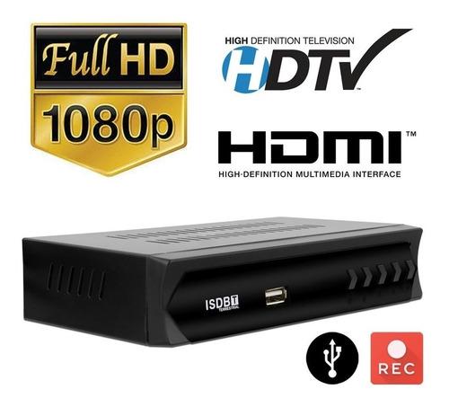 conversor tv digital set top box isd-t full hd com gravador