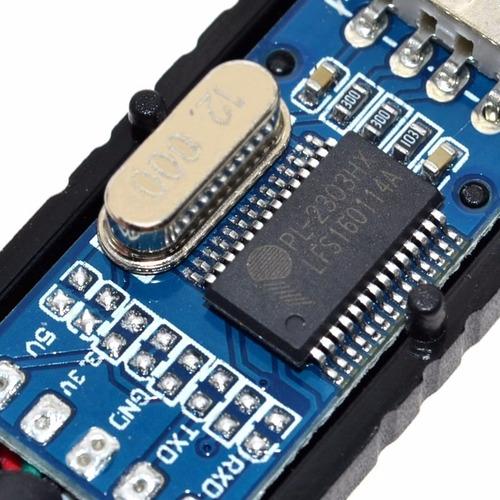 conversor usb para ttl rs232 pl2303 c/ cabo arduino projetos