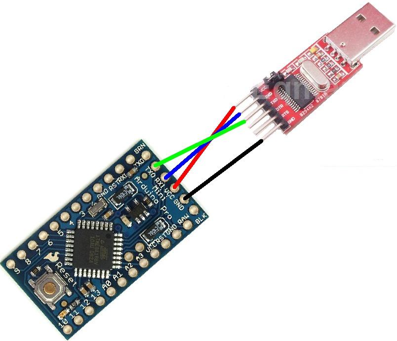 Conversor usb serial rs ttl pl hx p arduino mini