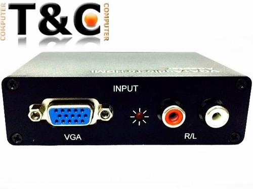 conversor vga a hdmi con audio, nuevos garantizados