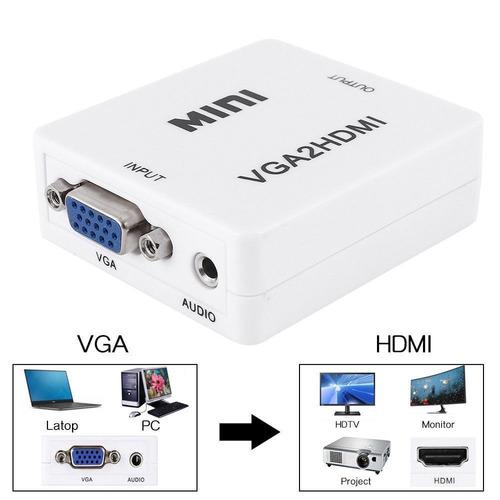 conversor vga a hdmi full hd con salida de audio