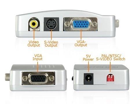 conversor vga a rca y s-video netmak notebook a tv rca