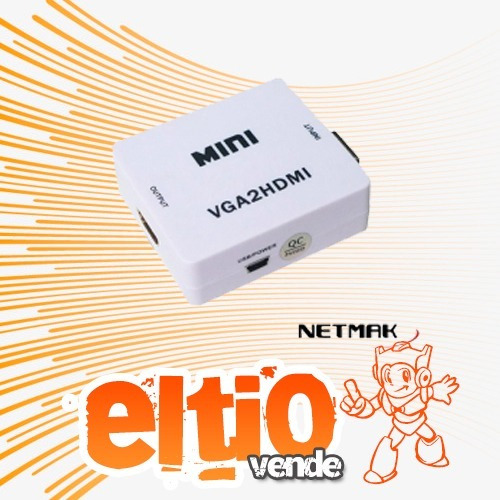 conversor vga + audio a hdmi hd2 netmak