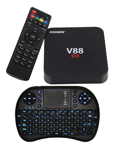 converti tv tubo lcd led smart tv android 4k + rca + teclado