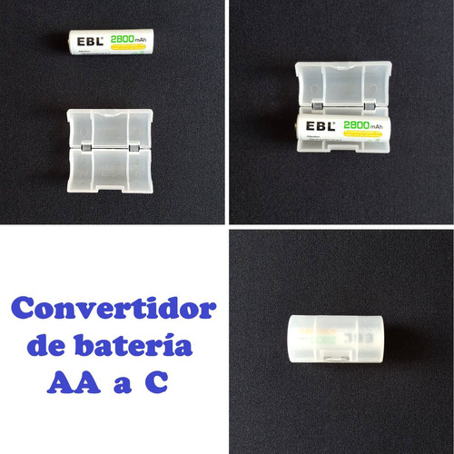 convertidor - adaptador | de bateria aa hacia bateria tipo c