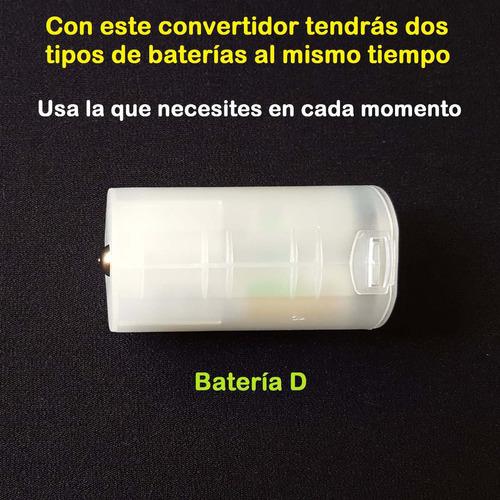 convertidor  adaptador | de baterias aa hacia bateria tipo d