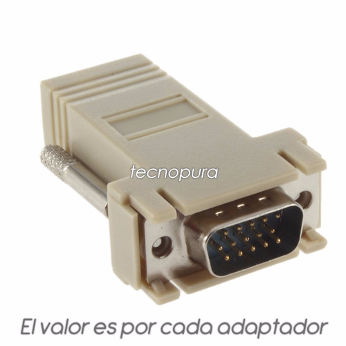 convertidor adaptador extensor vga por cable de red utp rj45
