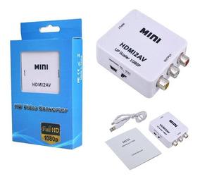 Yosoo Digital HDMI a RCA Compuesto Video Audio AV CVBS Adaptador convertidor 720p//1080p